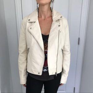 Blank NYC vegan leather motorcycle jacket